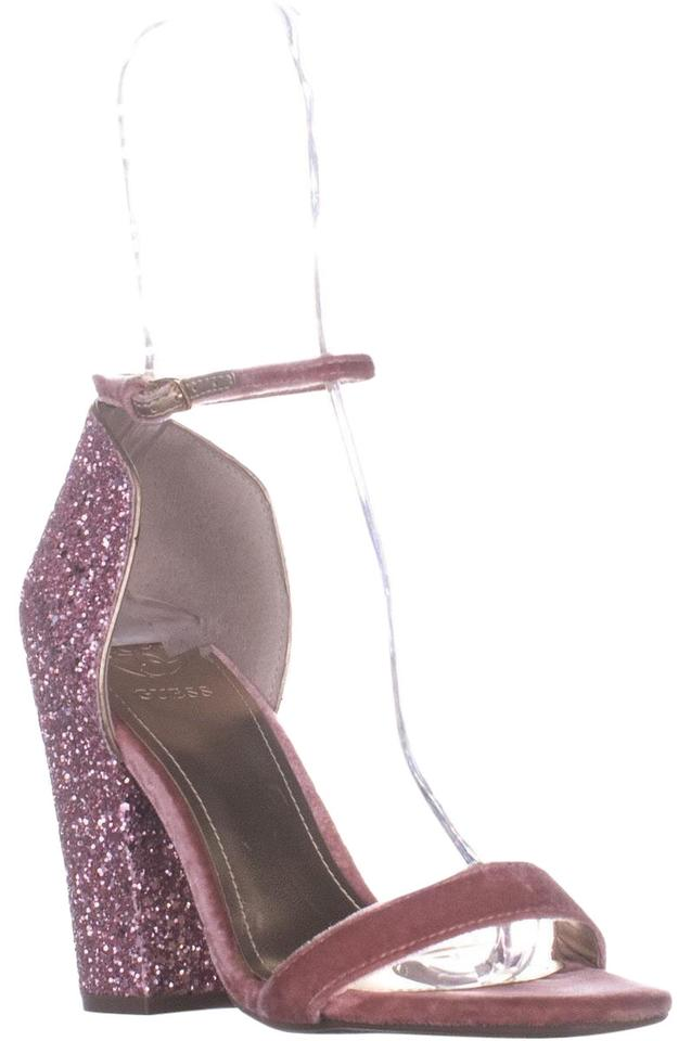 Guess Pink Bambam Glitter Ankle Strap Sandals Multi Pumps Size US 7 ...