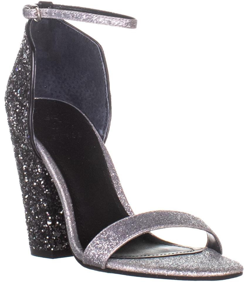 fbb25ae7c83 Guess Silver Bambam Glitter Ankle Strap Sandals Multi Texture Pumps Size US  5 Regular (M, B) 41% off retail