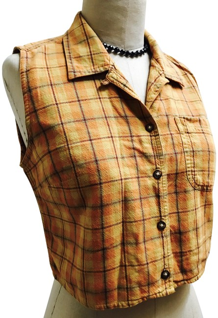 Item - Multicolor M Great For Summer Button-down Top Size 8 (M)