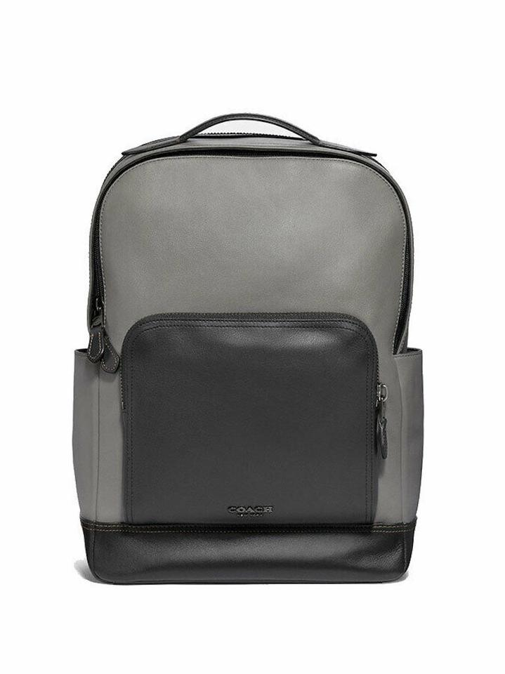 40347a53ceb ... bag 2c7ad b3c37; clearance coach mens f37599 graham grey black leather  backpack dcfd0 20d0d