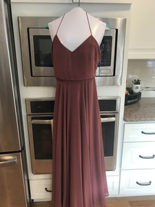 Jenny Yoo Cinnamon Rose Chiffon Inesse Formal Bridesmaid/Mob Dress Size 8 (M)