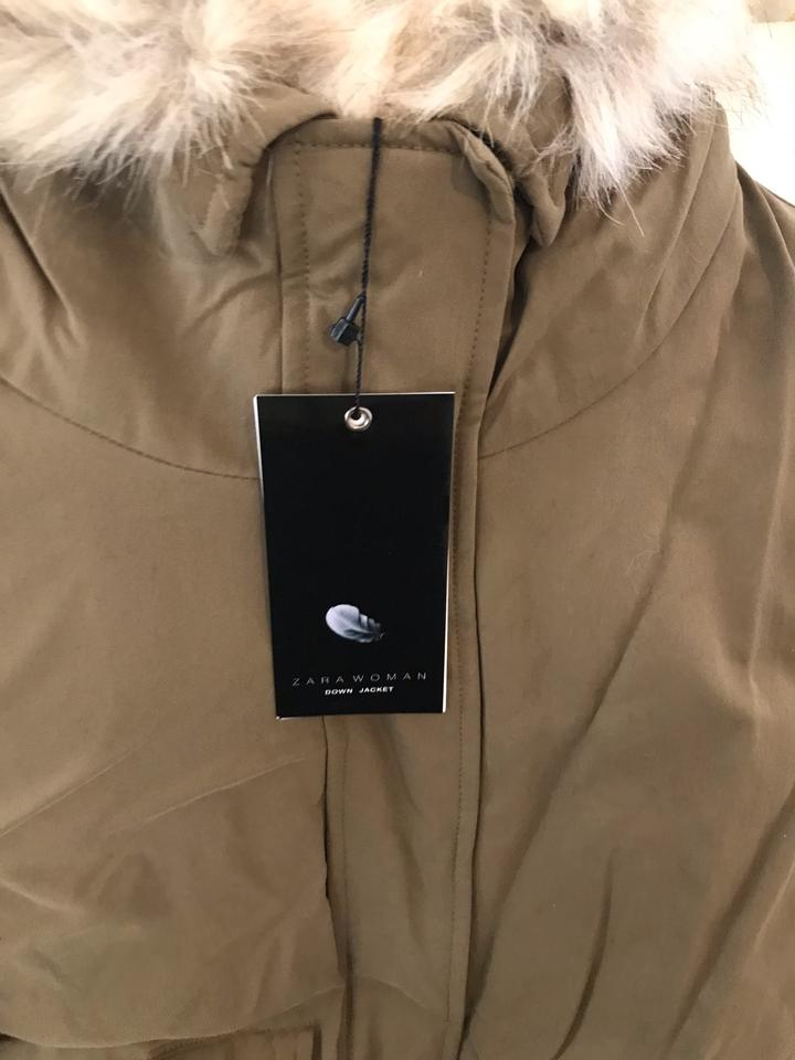 3d6d2ea6 Zara Light Tan New Hooded Down Parka Coat Size 2 (XS) - Tradesy