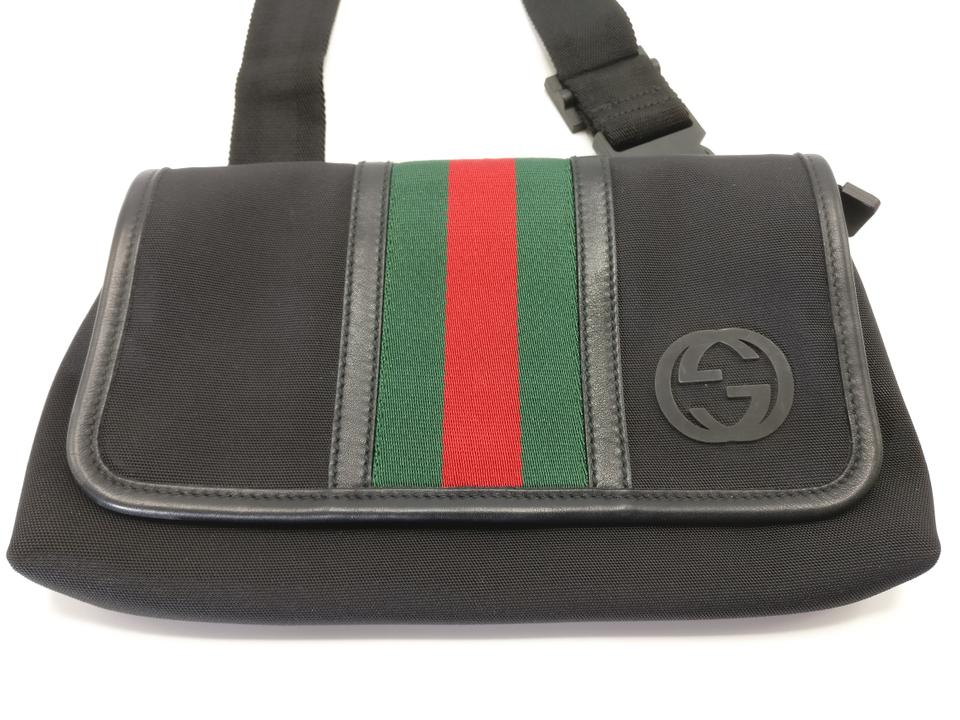 a5be884420c Gucci New Web Fanny Pack Black Canvas Cross Body Bag - Tradesy