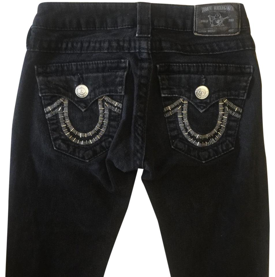 318bac55b1033c True Religion Black Medium Wash Becky  Max564l97 Skinny Jeans Size ...