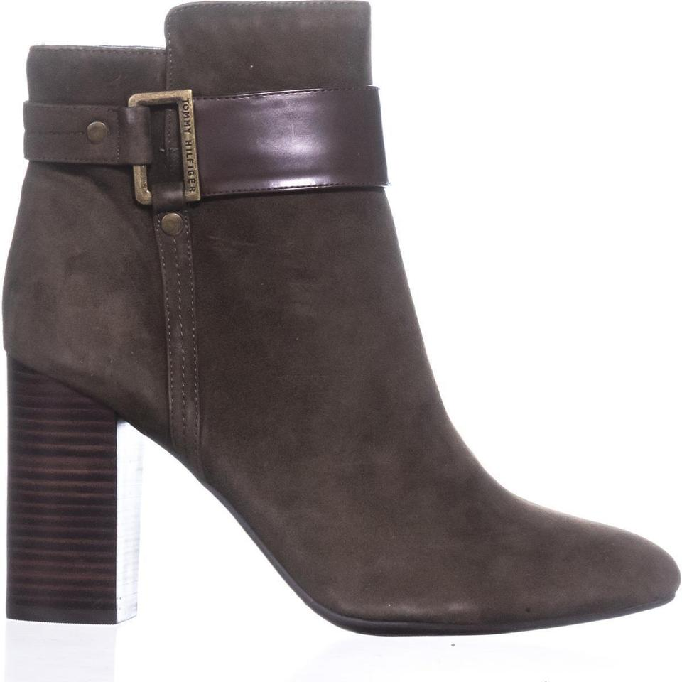 748e082503f2 Tommy Hilfiger Green Durham Ankle Medium Boots Booties Size US 10 ...