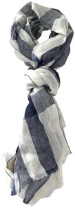 Burberry NWT BURBERRY EXPLODED NOVA CHECK CRINKLE SCARF CHALK WHITE CHECK