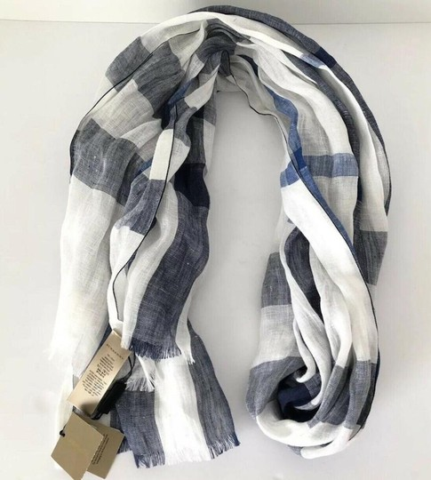 Burberry NWT BURBERRY EXPLODED NOVA CHECK CRINKLE SCARF CHALK WHITE CHECK Image 2