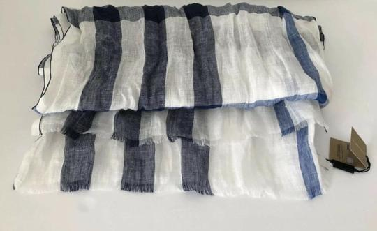 Burberry NWT BURBERRY EXPLODED NOVA CHECK CRINKLE SCARF CHALK WHITE CHECK Image 5