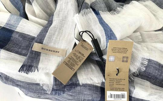 Burberry NWT BURBERRY EXPLODED NOVA CHECK CRINKLE SCARF CHALK WHITE CHECK Image 6