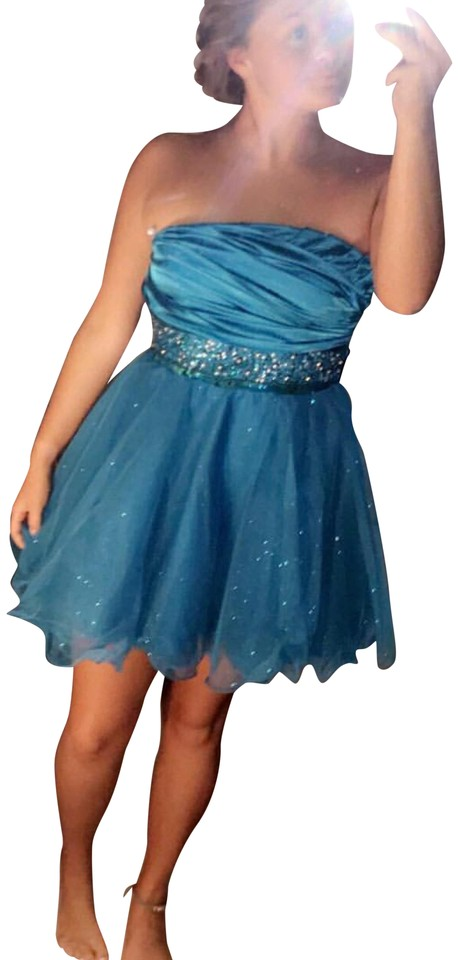 310f4bdb2ed1 Macy s Blue Tulle Short Formal Dress Size 4 (S) - Tradesy