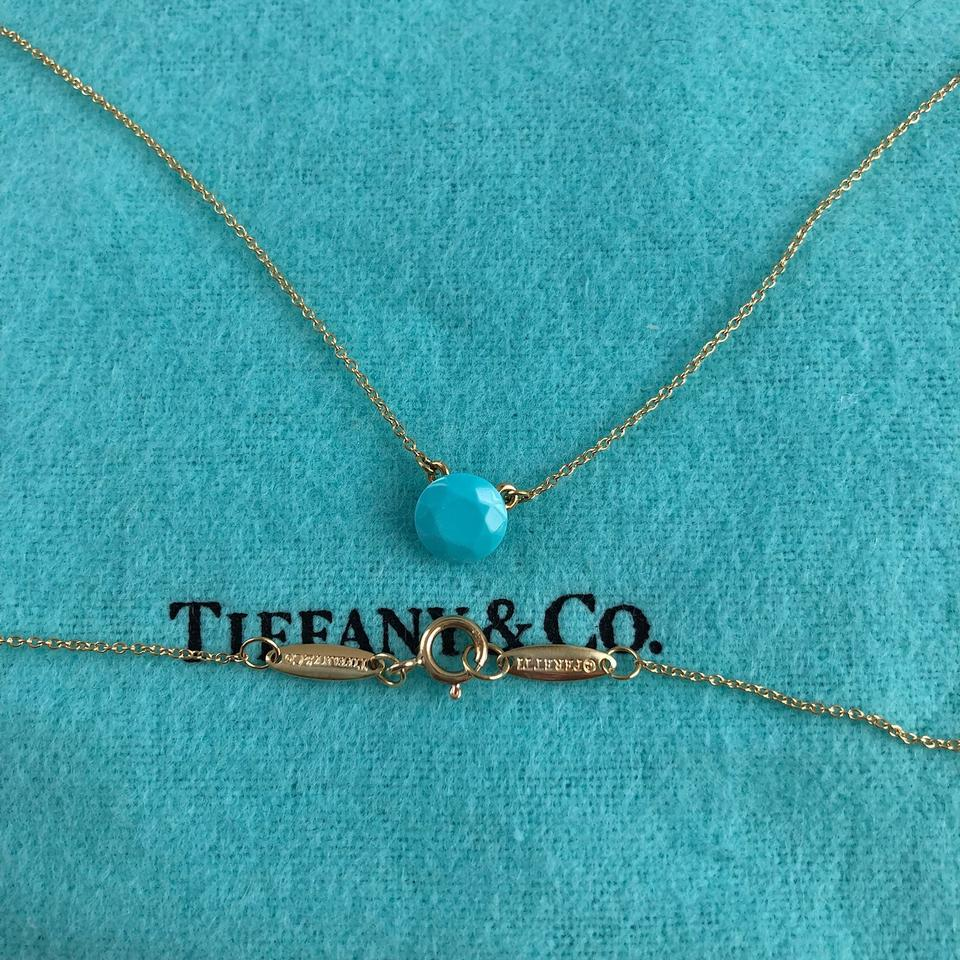 bc1922a9c328 Tiffany   Co. Elsa Peretti Turquoise Faceted 1 Carat 18k Yellow Gold Image  6. 1234567