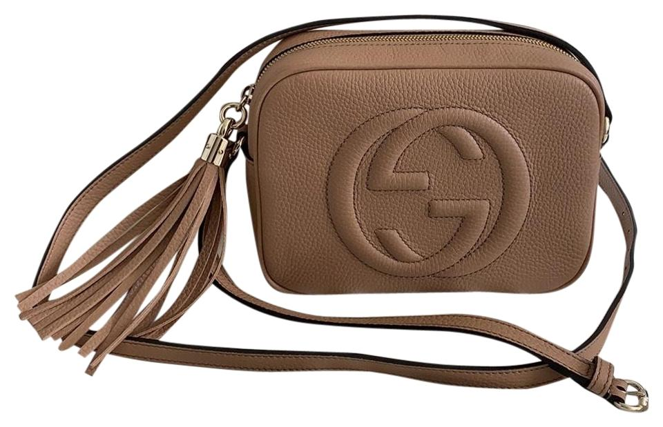 fd43ed31d4e0 Gucci Soho Disco 2019 Nude Leather Cross Body Bag - Tradesy