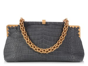 Bottega Veneta Gold Hardware Bv.q0116.07 Slate Blue Reduced Price Shoulder Bag