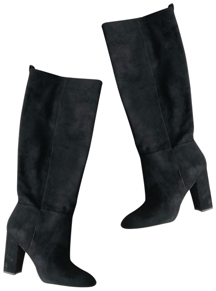 44a52f3ad Sam Edelman Black Suede Tall Boots Booties Size US 10 Regular (M