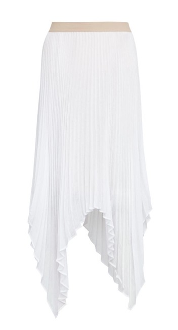 Item - Off White Rumi Asymmetric Pleated Skirt Size 2 (XS, 26)