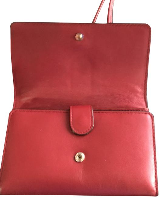 Red Leather Cross Body Bag Red Leather Cross Body Bag Image 1