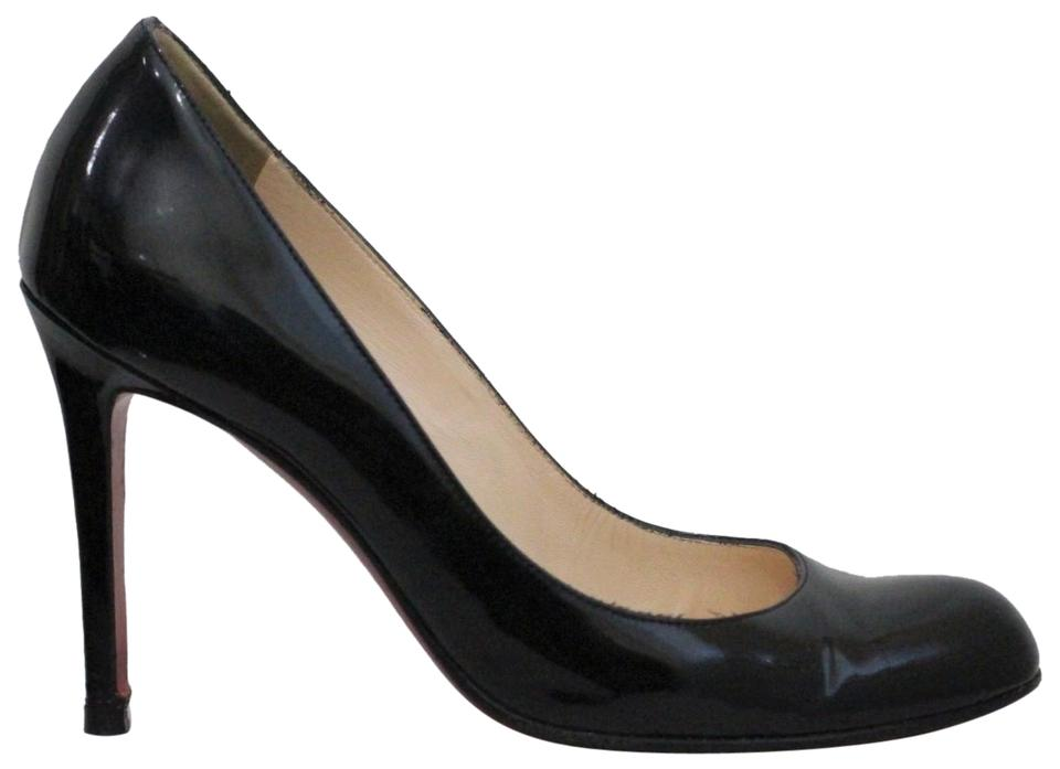 cd457303b7f6 Christian Louboutin Black Simple 100 Patent Leather Pumps. Size  EU 38  (Approx. US 8) Regular (M ...