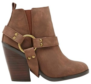 Nasty Gal Cult Western Ankle Cowboy Brown Boots