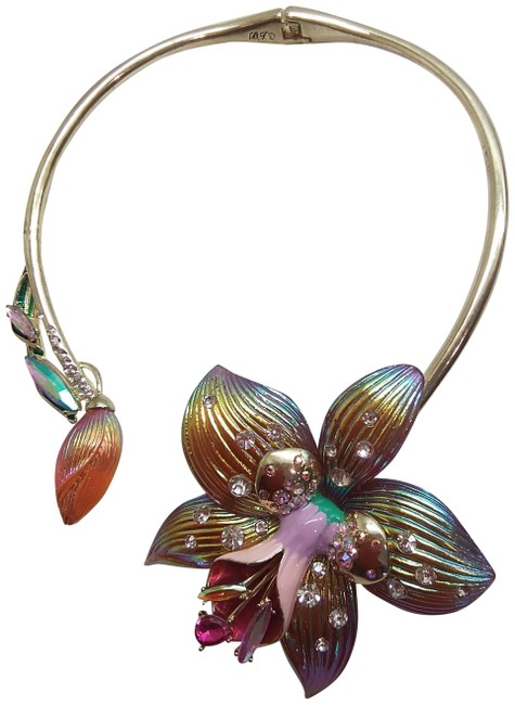 Item - Pink New Iridescent Daffodil Necklace