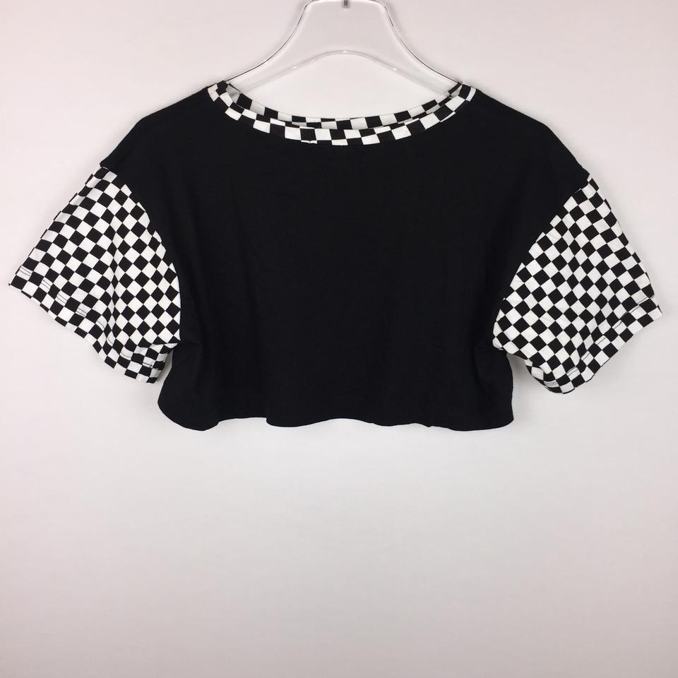 01900b27b31 Forever 21 Crop Crop Faster Than Light Checkered T Shirt Multicolor Image  11. 123456789101112