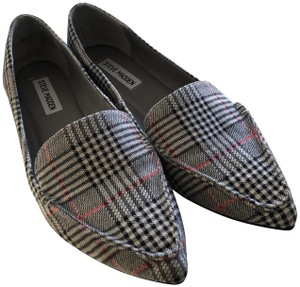 7ac91b84274 Added to Shopping Bag. Steve Madden Tweedy Preppy Pointed Toe Nuetral Plaid  Flats