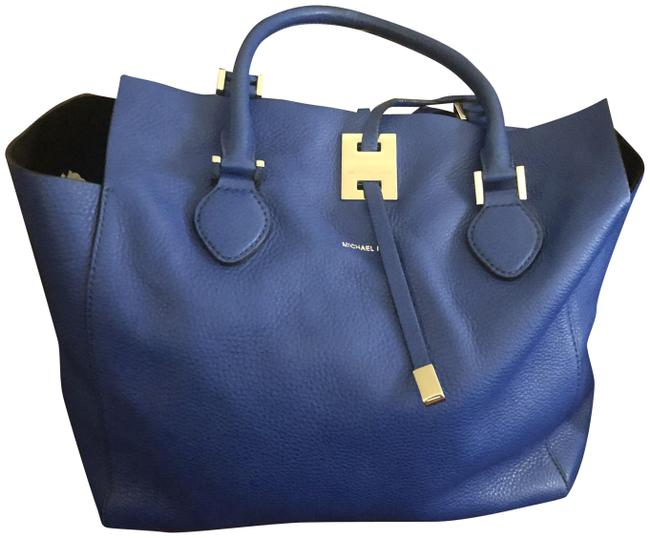 Item - Miranda Royal Blue Leather and Suede Tote