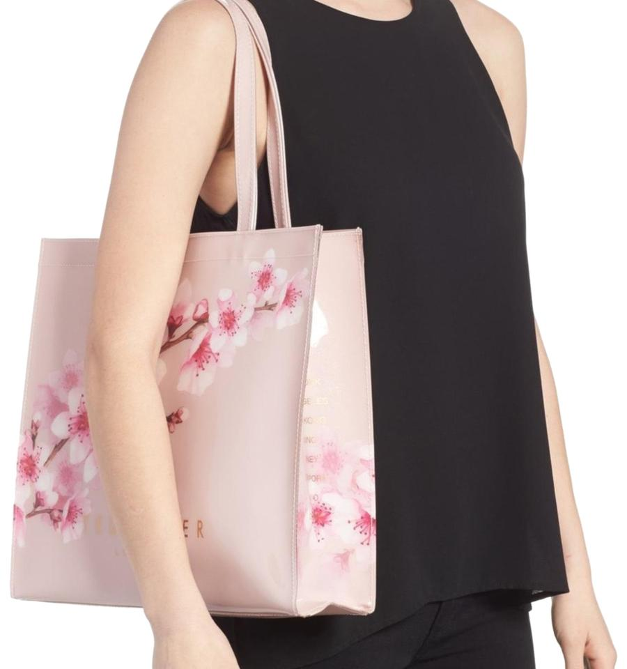 a5ab1c08092b Ted Baker Pammcon Soft Blossom Large Icon Light Pink Pvc Tote - Tradesy