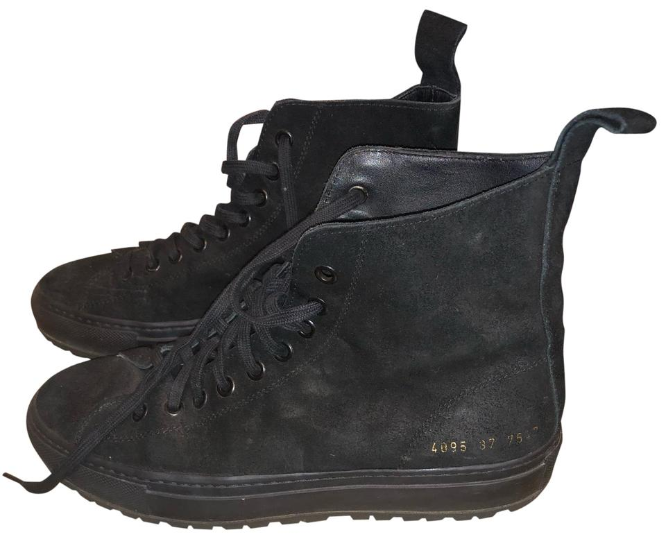 95d7e0427217 Common Projects Black Tournament High Top Sneakers Size US 7 Regular ...