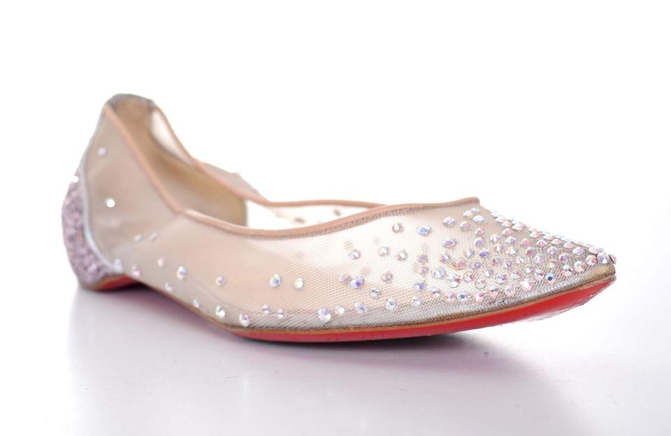 2f9222dad7a Christian Louboutin Pink Follies Strass Crystal Rhinestone 6 Flats ...