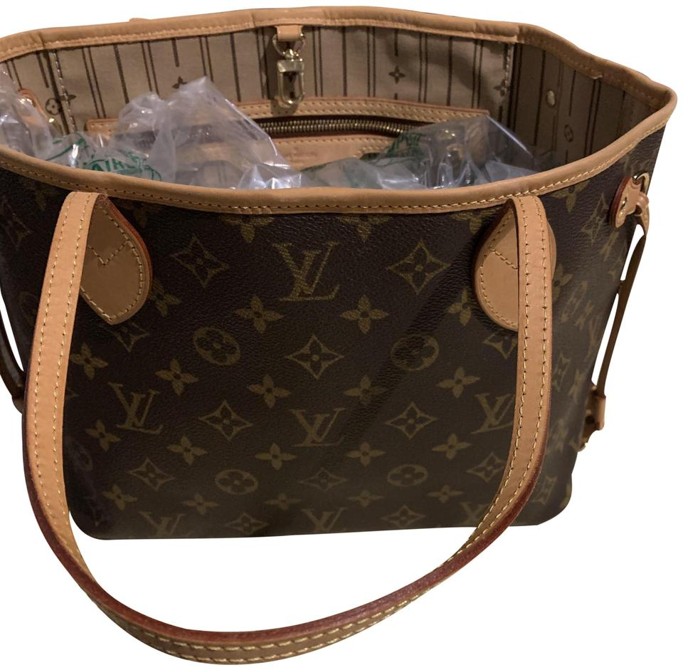 e2fc534f2a30 Louis Vuitton Neverfull Pm Brown and Tan Leather Tote - Tradesy
