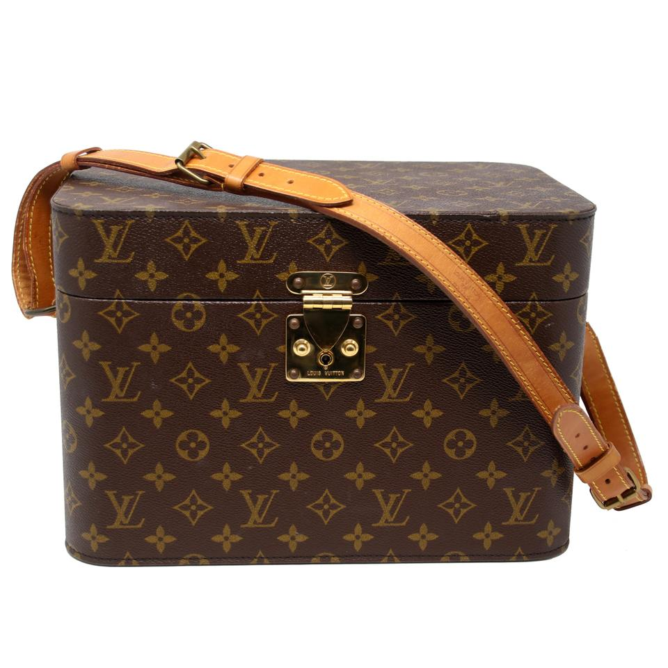 49f3ee6ac1db Louis Vuitton Rare Monogram with Keys Coated Canvas Beauty Train Brown  Cowhide Leather Weekend Travel Bag