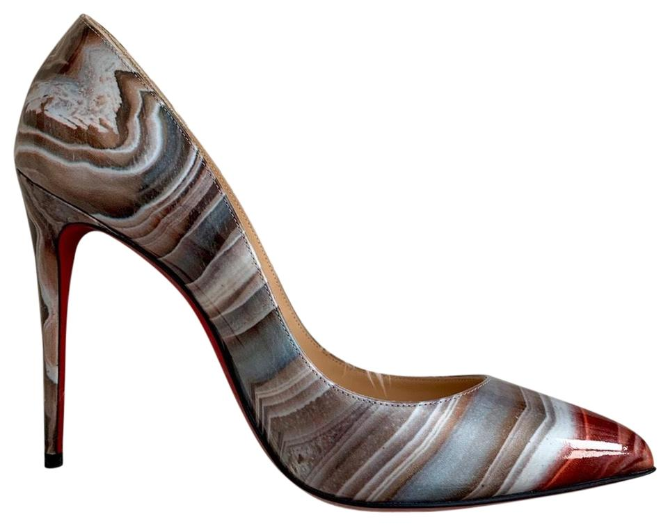 7d05f72f0 Christian Louboutin Multicolor Galaxy Beige Pigalle Follies Pointy Pumps