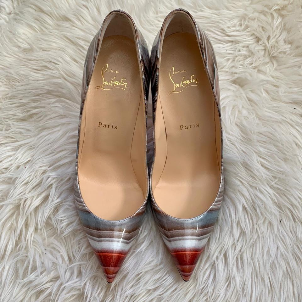 cb380bf55bb Christian Louboutin Multicolor Galaxy Beige Pigalle Follies Pointy ...