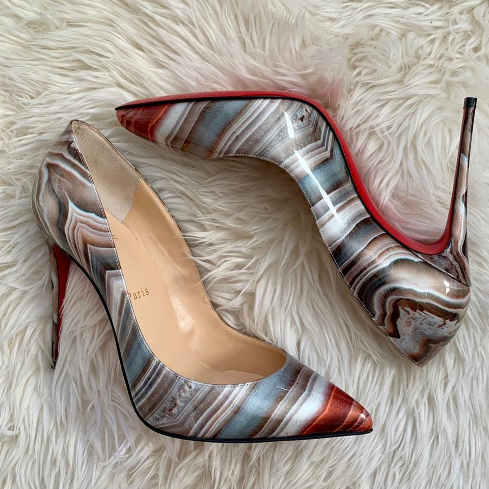13465aa1d Christian Louboutin Multicolor Galaxy Beige Pigalle Follies Pointy Pumps  Size EU 39 (Approx. US 9) Regular (M, B) - Tradesy