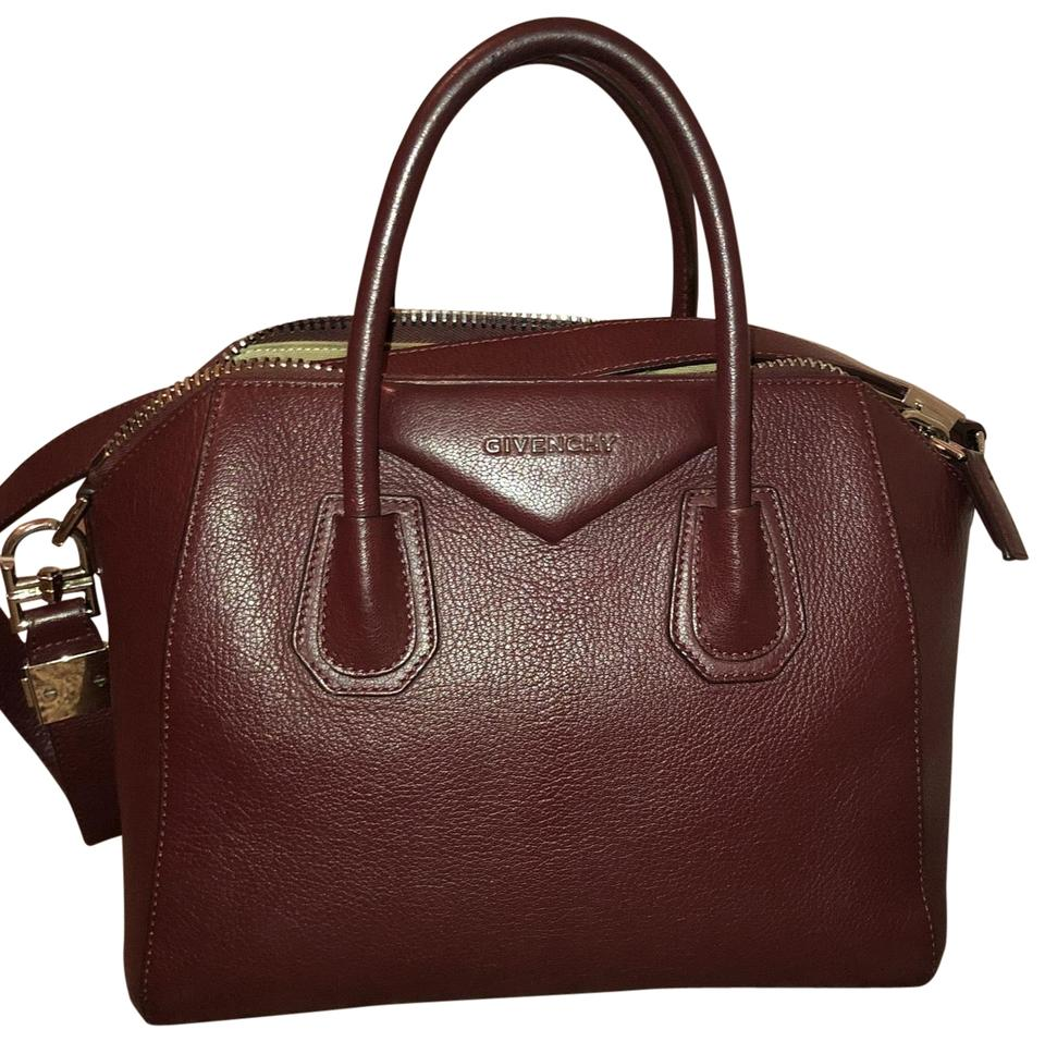 4402e51a60 Givenchy Antigona Medium Tote Eggplant Leather Satchel - Tradesy