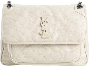 b0fa973f7b Saint Laurent Monogram Niki Medium Crema Soft Leather Shoulder Bag ...