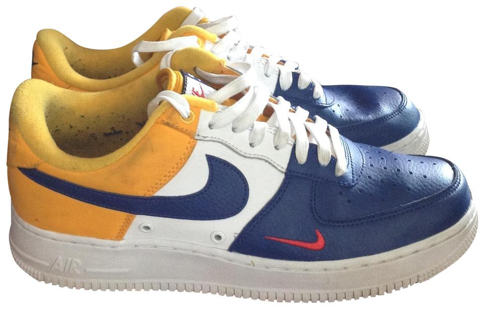 huge selection of e7554 a30ee Nike Navy  Gold Mens Air Force 1 Barcelona Sneakers