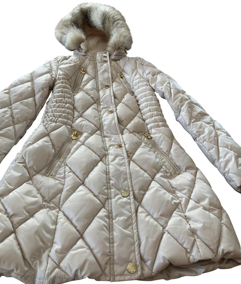 3fbc74f438a3 Laundry by Design Gold Tone Trim Faux Fur Quilted Hooded Coat Image 0 ...