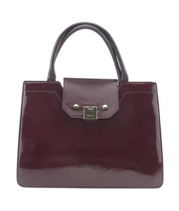 Jimmy Choo Patent Leather Tote in Burgundy