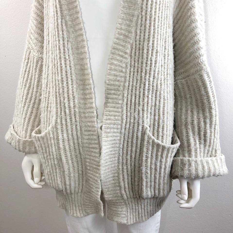 1c150135 Zara Knit Cream Oversized Open Front Chunky Pocket Sweater In Beige -  Blogger Fav Cardigan Size 6 (S) - Tradesy