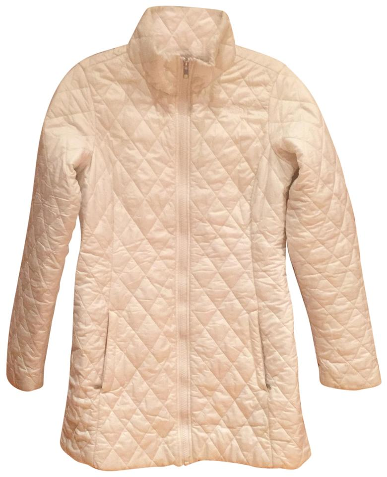 The North Face Ivory Quilted Coat Size 6 (S) - Tradesy 40013f3ab