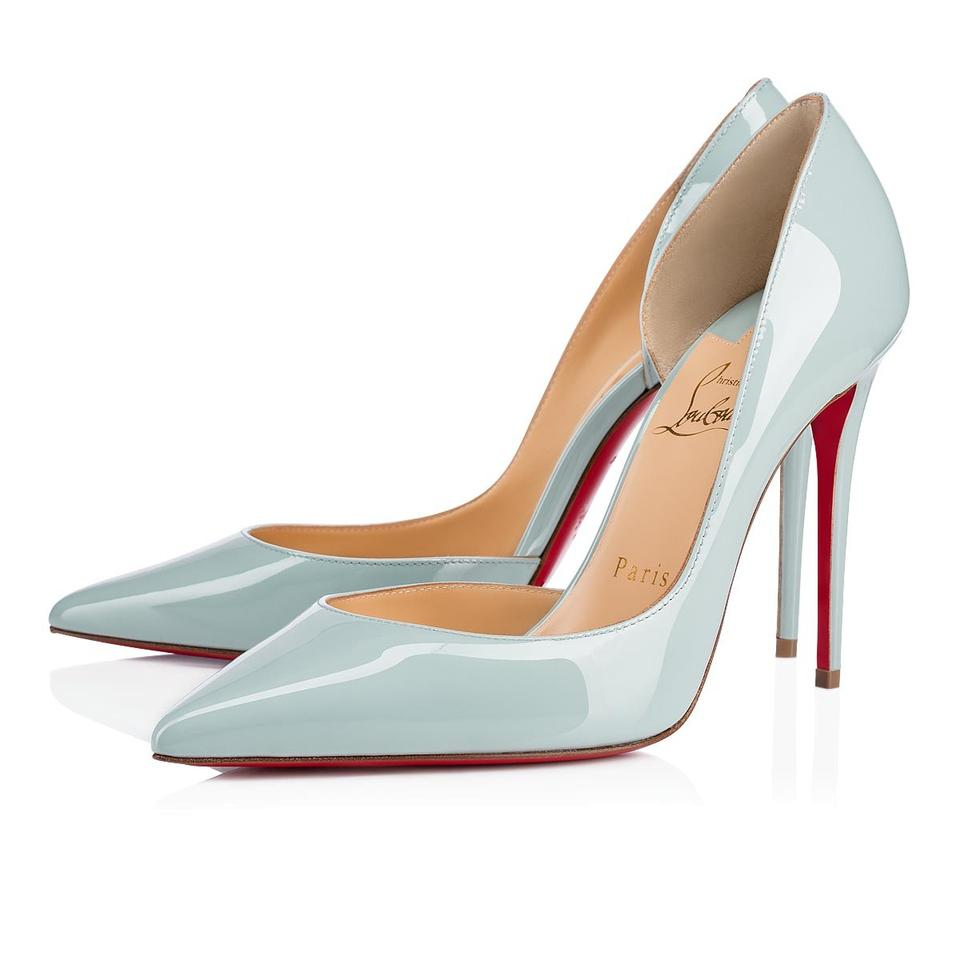 910d8dbe7934 Christian Louboutin Heels Iriza D orsay Patent Leather Wedding Nuage (Blue)  Pumps Image ...