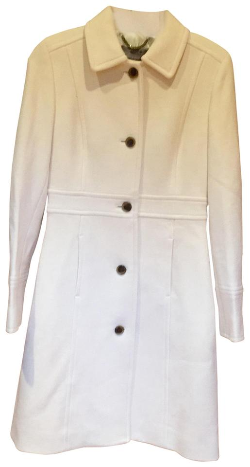 J Crew Ivory Double Cloth Lady Day With Thinsulate Coat Size 0 Xs