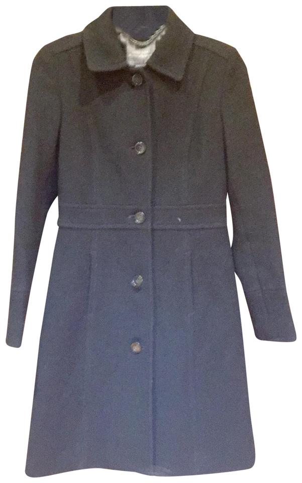 J Crew Black Double Cloth Lady Day With Thinsulate Coat Size 0 Xs