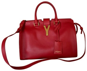Saint Laurent Satchel in Red