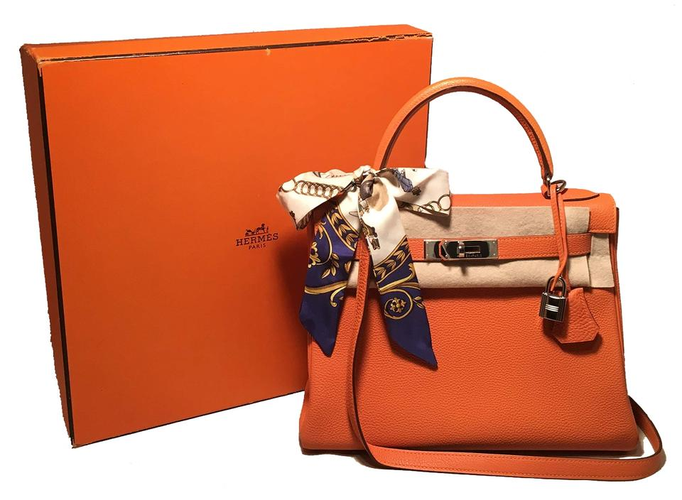 effa1c145256 Hermès Kelly Kelly Kelly Kelly 28cm Togo Leather Satchel in orange Image 0  ...