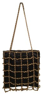 Chanel Cage Evening Silk Silk Chain Cage Shoulder Bag