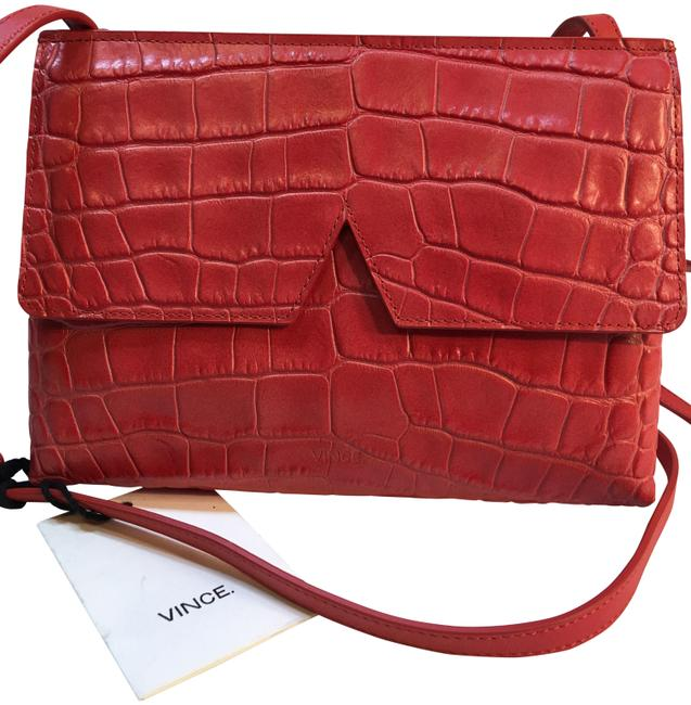 Item - Siena Signature Collection Coral Crocodile Skin Leather Cross Body Bag