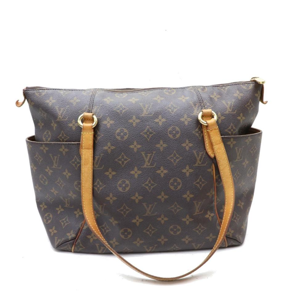 f582bcf744bf Louis Vuitton Totally Mm Brown Coated Canvas Shoulder Bag - Tradesy
