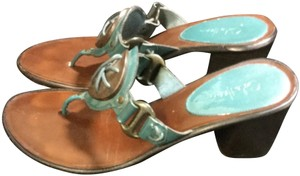Cole Haan Brown and Teal Sandals
